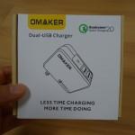【レビュー】OmakerのQuick Charge 2.0対応の急速充電器を使ってみた!本当に超爆速だった&2ポートあるので便利!