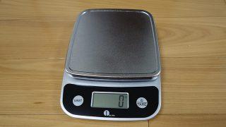 【レビュー】5kgまで計れるド定番のハカリ、柔らかい床でも測定できる!