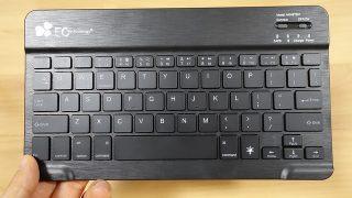 【レビュー】EC Technology 超薄Bluetoothギーボード はデザインよしキーストロークが意外と深い打ちやすいキーボード