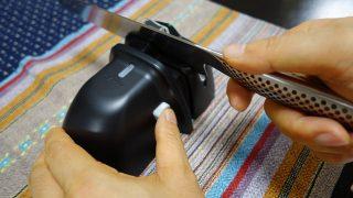 【レビュー】切れなくなった包丁を蘇らせる電動研石!信頼の京セラが簡単に高い品質の研磨を実現!