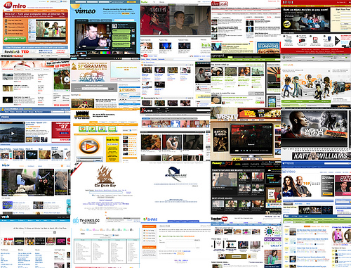 online video ecology; in a grid