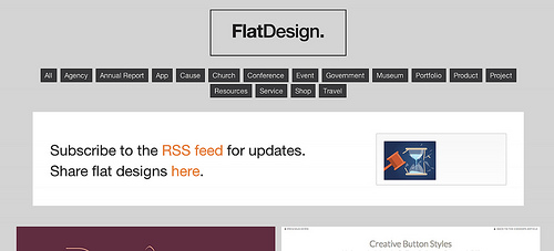 Flat UI Design - A showcase of the best examples of the flat UI design aesthetic on the web.