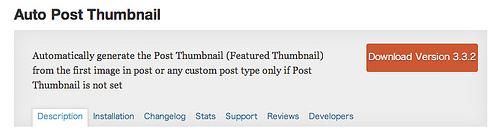 WordPress ? Auto Post Thumbnail ? WordPress Plugins