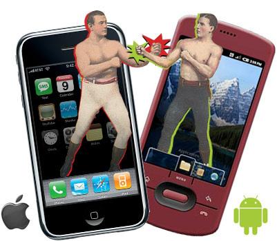 iPhone VS Androidの勝負、アンドロイドが負けるはずが無い