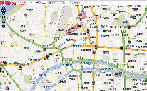 地図上に運行状況を表示する「鉄道Now」が見ているだけでも楽しい!
