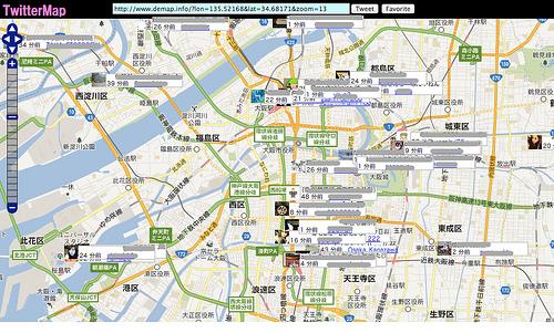 地図上にTweetを表示する「TwitterMap」が面白い!