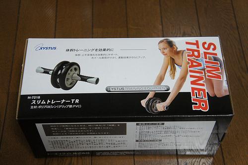 1,211円のコロコロで腹筋と背筋を鍛えろ!スリムトレーナーTR H-7218を買ってみた