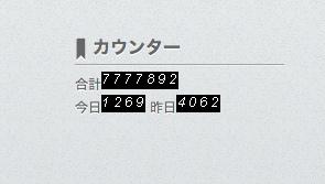 訪問者が777万7777人を突破しました!