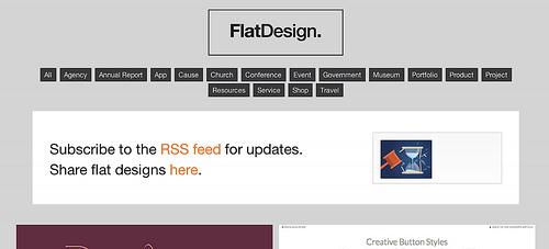 フラットデザインを集めた「Flat UI Design」は参考になるし見ているだけで楽しいよ!