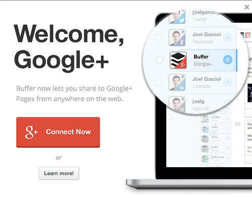 BufferがGoogle+ページに対応!