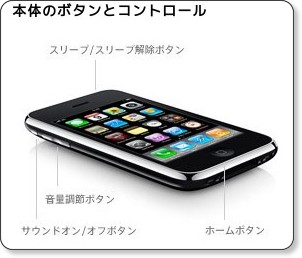 iPhone 3GS で強制的に再起動する方法